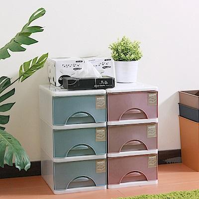 HOUSE 台灣製 大自然三層收納櫃附輪99L(二色可選)