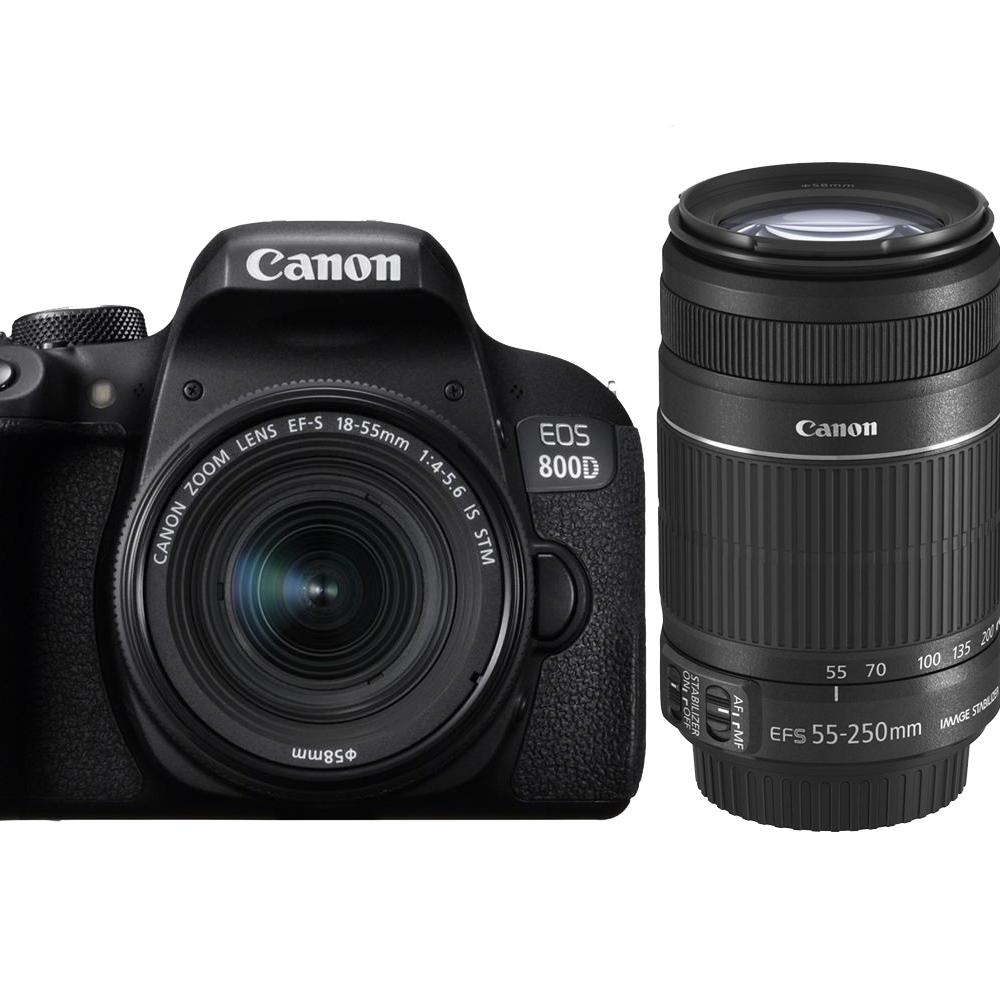 CANON 800D+18-55mm+55-250mm IS II 單鏡組*(平輸中文)