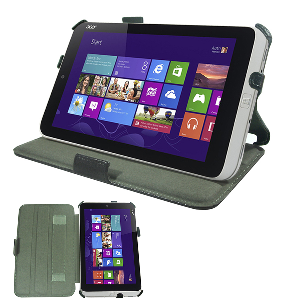 宏碁ACER ICONIA W3-810 專用頂級平板電腦皮套 可手持多角度斜立帶筆插
