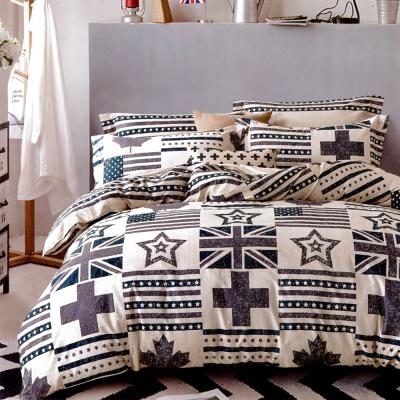生活提案 純棉涼被床包組四件組-英倫風雙人