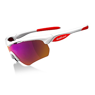 【ADHOC】運動太陽眼鏡-鍍膜鏡片-半框式HAWK