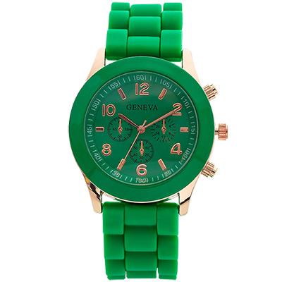 Watch-123 繽紛馬卡龍-爆款輕甜時尚果凍腕錶-青竹綠/38mm
