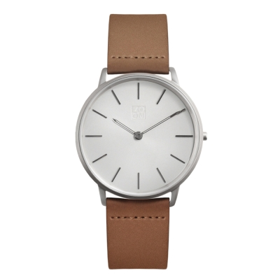 ZOOM 極簡超薄腕錶-銀白 /42mm