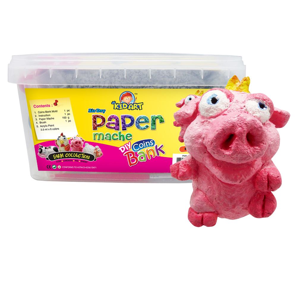 【KID ART】美國創意手作黏土-紙黏土(噗皮豬)