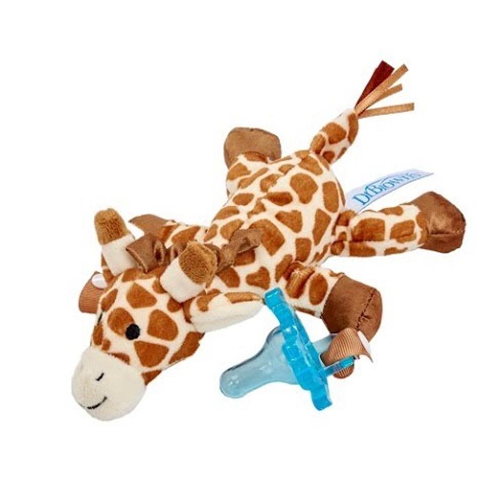 DR.BROWN 奶嘴娃娃+早產/新生兒專用矽膠安撫奶嘴 0-6月長頸鹿 1組
