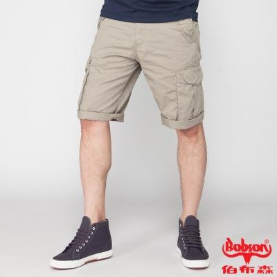 BOBSON 男款貼袋短褲(卡其190-72)