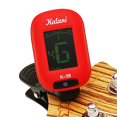 Kalani 烏克麗麗/吉他 5合1雙色冷光調音器(紅色)+加贈 PICK