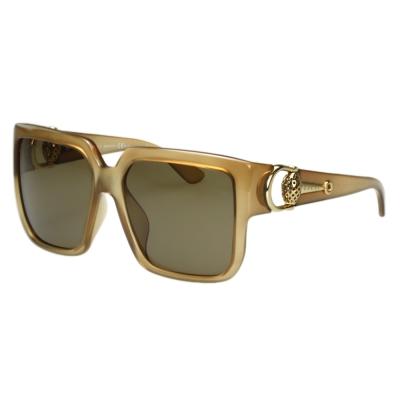 GUCCI- 時尚金球 太陽眼鏡 (牛奶糖色)