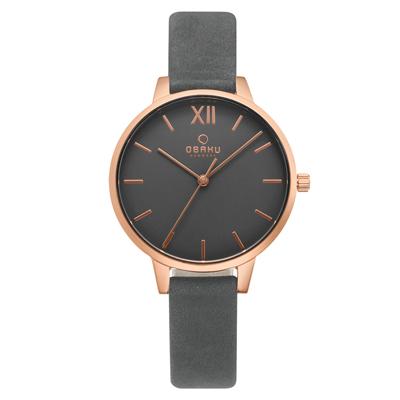 OBAKU 優閒午後氣質皮帶女錶(V209LXVJRJ)-34mm