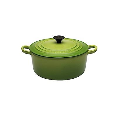 LE CREUSET 琺瑯鑄鐵圓鍋16cm-棕櫚綠