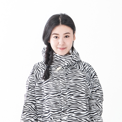 rainstoryl斑馬紋連身甜美雨衣(M號)