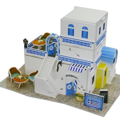世界之窗 3D立體拼圖 希臘-餐廳 3D World Style