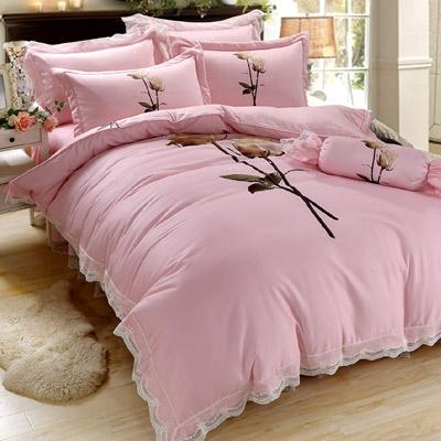 Saint Rose 晶鑽花語 加大 60支 天絲兩用被套床罩八件組