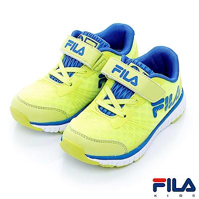 FILA KIDS 中童輕量MD慢跑鞋-綠藍2-J422R-663