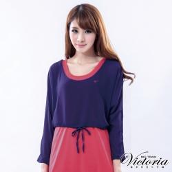 Victoria 兩件式外罩雪紡上衣-女-紫色