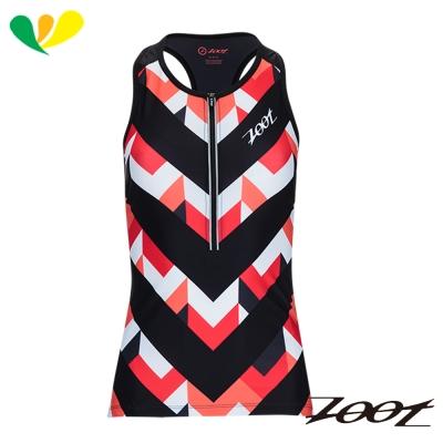 ZOOT 頂級碳離子半拉式鐵人上衣(女)(彩紋粉) Z1706001