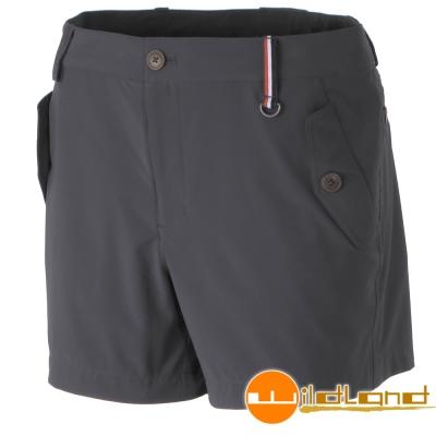 Wildland 荒野 0A31397-93深灰色女 RE四向彈性抗UV短褲/休閒褲