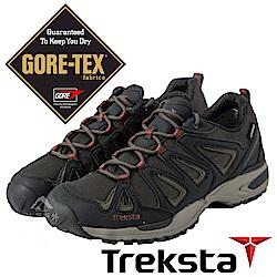 Treksta 男 Gore-Tex 防水低筒健行鞋『黑咖啡』KR17GM