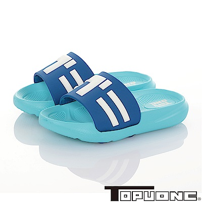 TOPUONE 極輕量室內外減壓休閒拖鞋童鞋-水