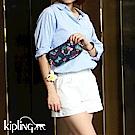 Kipling 掛繩手拿包 Emoji 系列 夏日湛藍-小