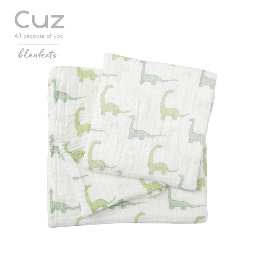 Cuz-長脖子恐龍(紗布巾)30cm-2入