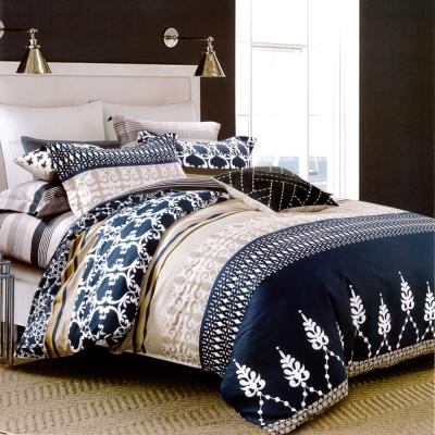 生活提案 純棉涼被床包組四件組-星夢奇緣藍/加大