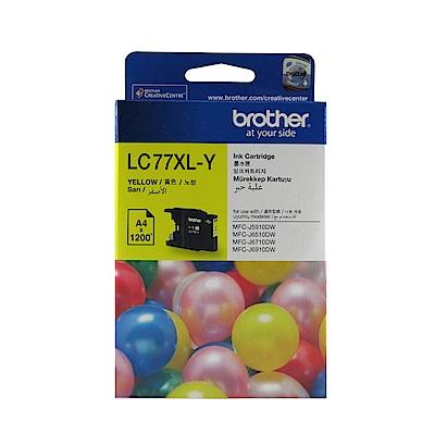 Brother LC77XL-Y 原廠超高容量黃色墨水匣