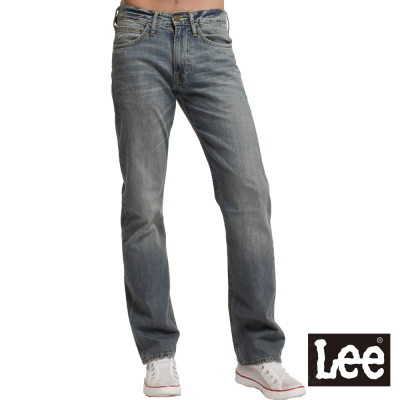 Lee-Roy-729低腰標準直筒牛仔褲-男款-中古藍