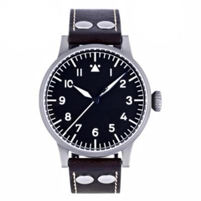 Laco朗坤 Munster 夜光飛行機械腕錶-黑/42mm 861748