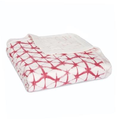 美國aden+anais嬰幼兒絲柔(竹纖維)被毯-莓紅印染系列AA9318