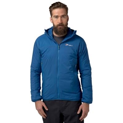 【Berghaus 貝豪斯】男款溫度調節高科技棉雙面穿外套H22MU7藍
