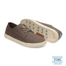 TOMS 簡約織紋帆布休閒鞋-女款(灰)