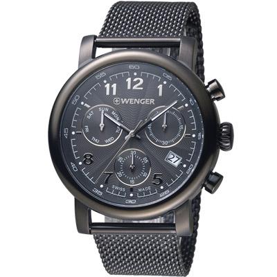 WENGER Urban系列經典米蘭帶計時腕錶(01.1043.108)43mm