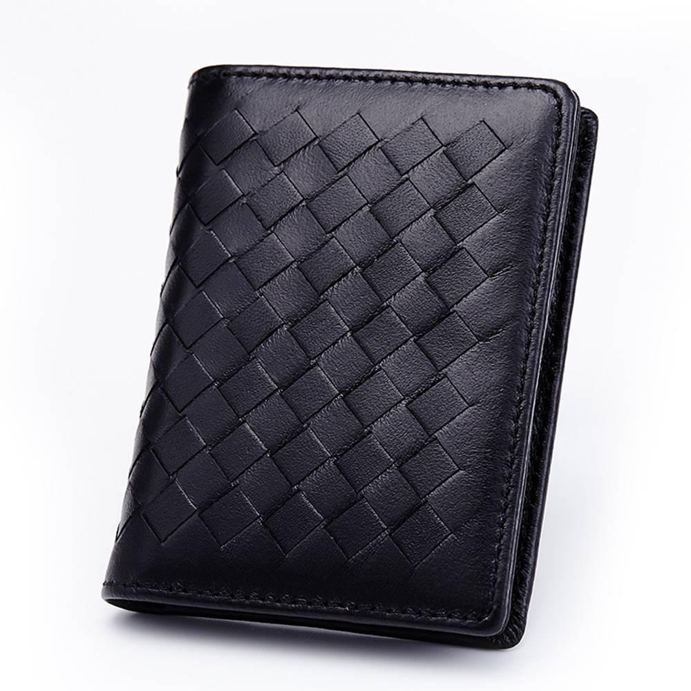 玩皮工坊-羊皮編織大容量隨身卡片零錢包-KN81