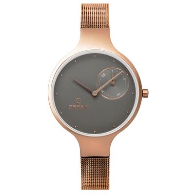 OBAKU 琉星砂簡約時尚腕錶-V201LDVJMV/31mm