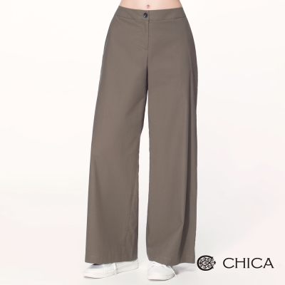 CHICA 80年代復古風潮素色直筒寬褲(2色)