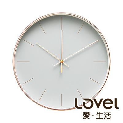 【年終下殺】Lovel 25cm 時尚玫瑰金框靜音時鐘/掛鐘-共3款