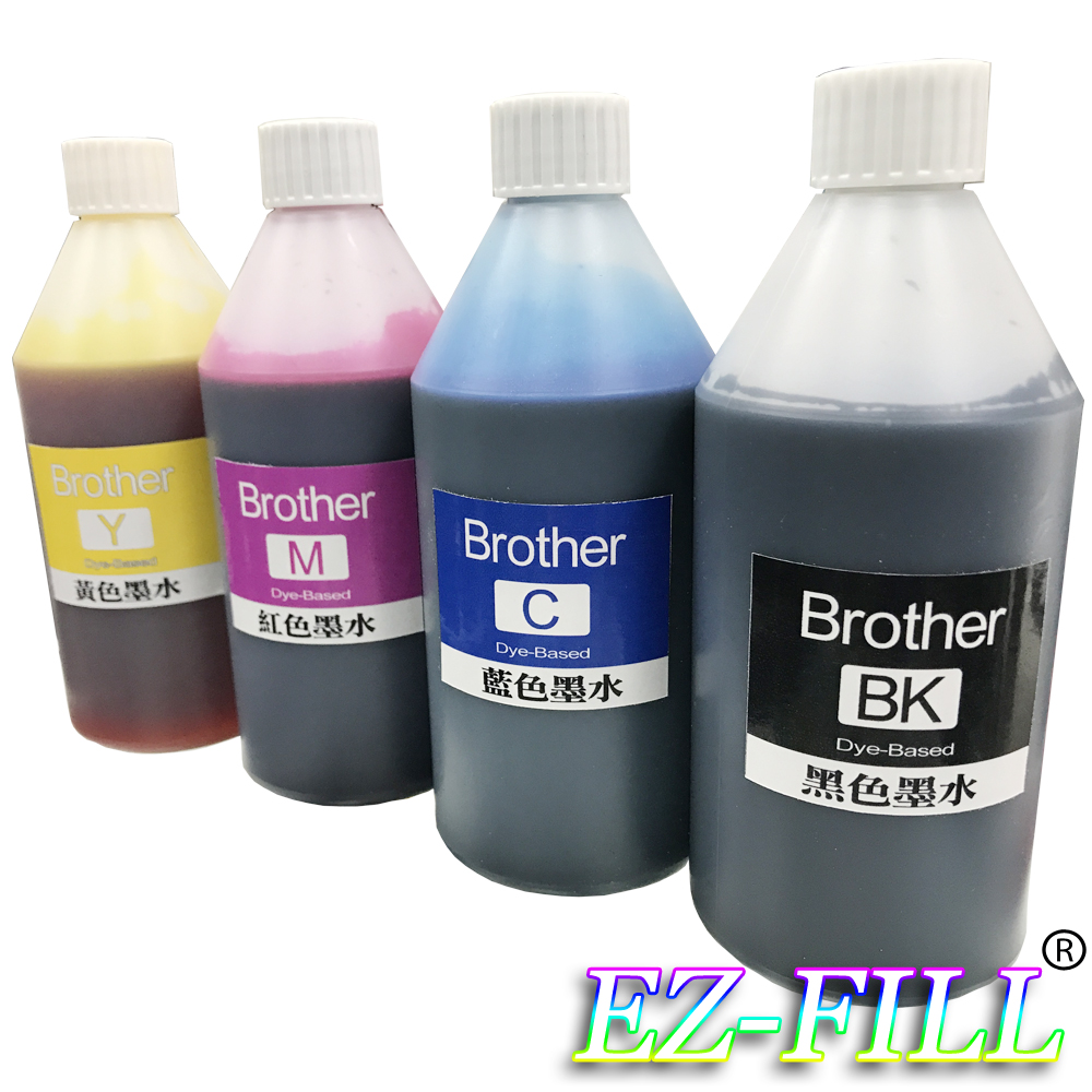 EZ FILL Brother 四色填充墨水組(250cc/瓶)