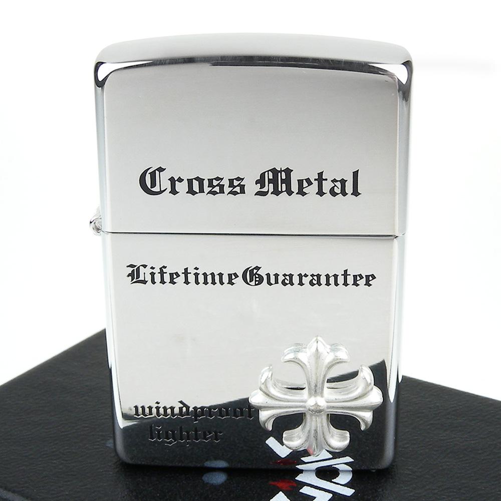 【ZIPPO】日系~Cross Metal-金屬十字貼飾打火機