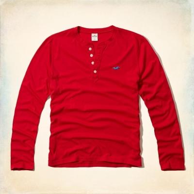 Hollister HCO 長袖 T恤 紅色 0111