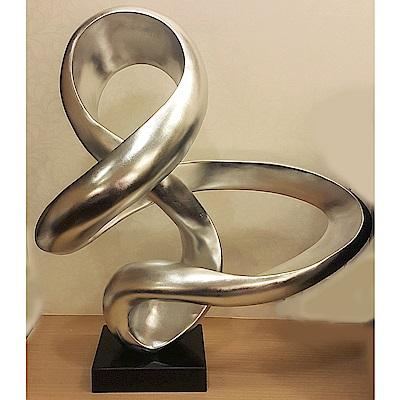 好夢成真 立體雕塑擺飾 創意時尚歐風  仿抽象銀箔不鏽鋼雕