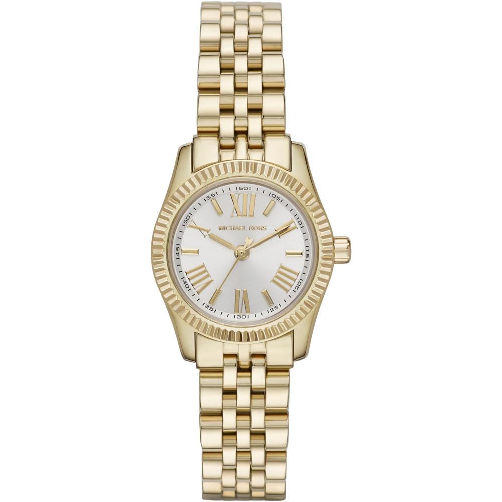 Michael Kors 羅馬時尚腕錶-銀x金/26mm