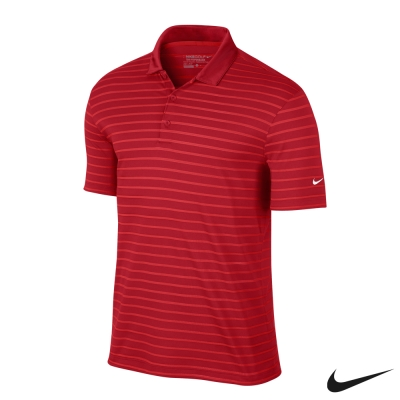NIKE GOLF ICON STRIPE 條紋POLO衫 - 紅725532-657