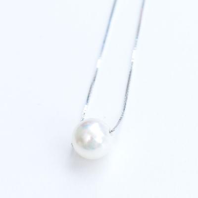 微醺禮物 鍍白金 925銀單顆珍珠 項鍊