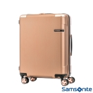 Samsonite新秀麗20吋 Evoa 拉絲光澤防盜拉鍊抗震輪TSA硬殼登機箱(玫瑰金)