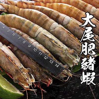 【海鮮王】深海大尾肥豬蝦 2盒組(9-11尾/650g±10%/盒)