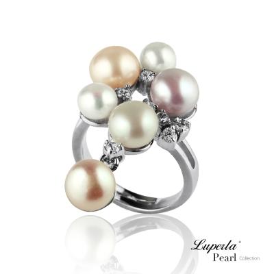 大東山珠寶 晶鑽珍珠戒指 燦爛時光