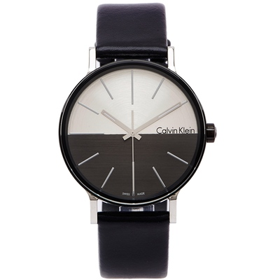 CK Calvin Klein  Boost 簡約時尚款手錶-灰與銀色面/41mm