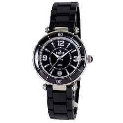 CLOIE美學魅力陶瓷腕錶-黑/34mm