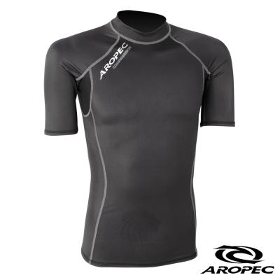 AROPEC 機能型短袖壓力衣男款 黑